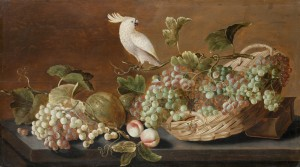 Stilleben, frukt och papegoja. Skokloster slott. eMuseumPlusCARZ03ZB