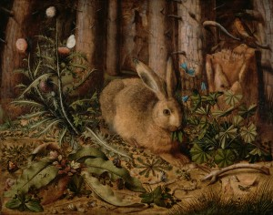 En hare i skogen (ca 1585). Hans Hoffmann (tysk, ca 1530 – 1591/92). Digital image courtesy of the Getty's Open Content Program.