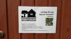 Eriksdalslundens kolonimuseum öppettider